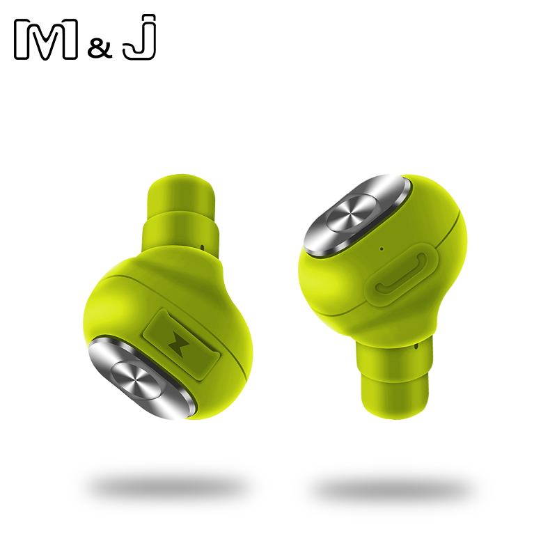 M&J True Wireless Earbuds Stereo TWS Bluetooth Earphones Wireless Bluetooth Headphone with Built-in HD Mic for iphone android