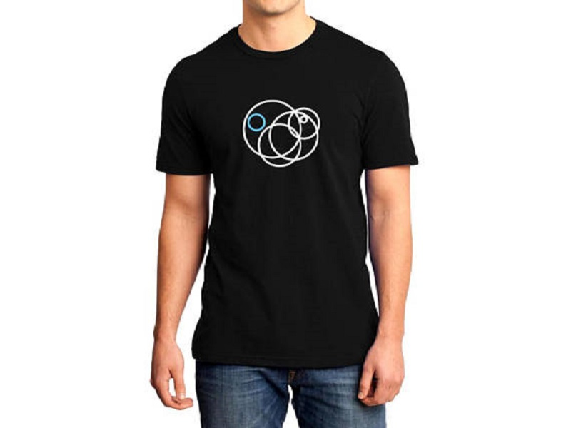 T Shirt Design Shop Short Sleeve Fashion 2018 Crew Neck Eccentric Circles Tee Shirts For Men