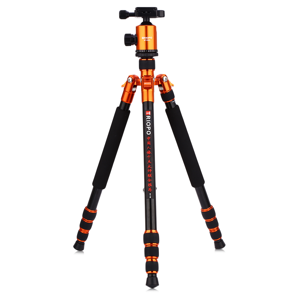 TRIOPO MT258A Aluminum Alloy Camera Video Tripod Monopod with Quick Release Plate For Canon Nikon Sony