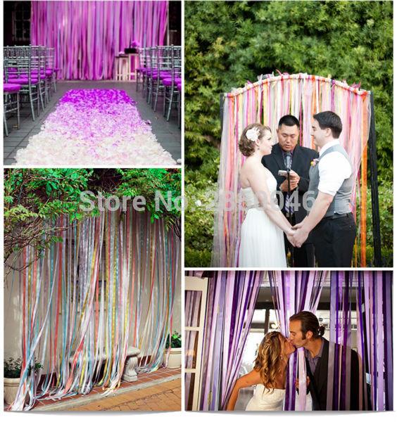Vlastní výška 2M kreativní stuha opona dveře okna domácí svatební party školy rozložení