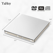 YAHEY USB 3.0 DVD Recorder Drive External Optical Drive CD-ROM Player CD/DVD RW Burner Writer Portable for Laptop Windows 7 8 10