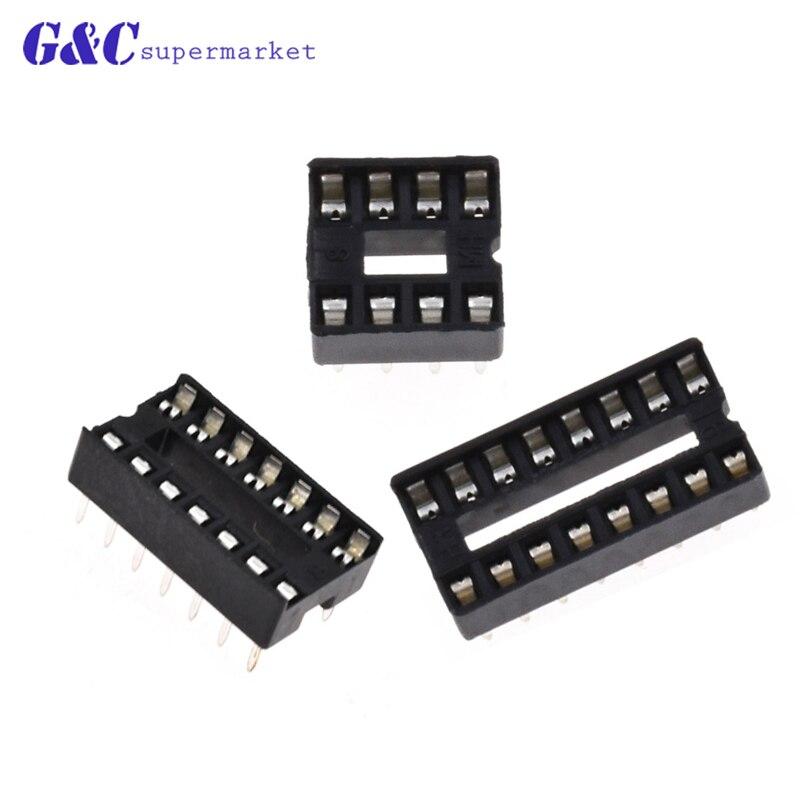 50PCS DIP IC Socket Adaptor PCB Solder Type DIP Socket 8PIN 14PIN 16PIN DIY