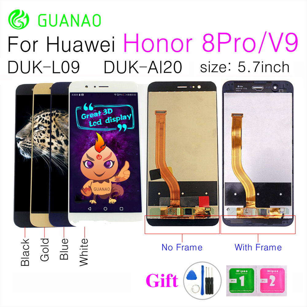 Guanao LCD Screen for HUAWEI Honor 8 Pro honor V9 DUK-L09 DUK-AL20 LCD Display and with Touch Screen Digitizer Assembly+frameGuanao LCD Screen for HUAWEI Honor 8 Pro honor V9 DUK-L09 DUK-AL20 LCD Display and with Touch Screen Digitizer Assembly+frame
