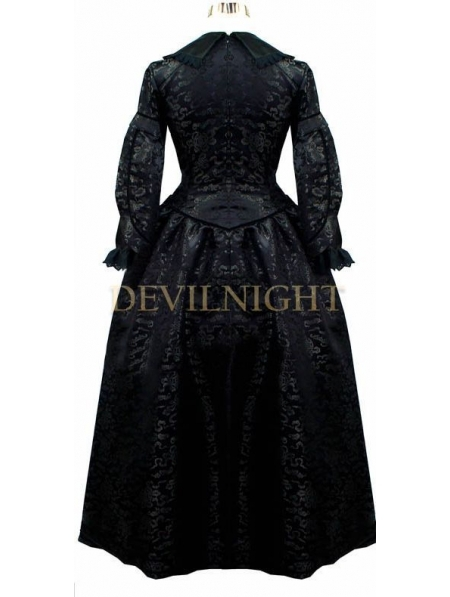 Robe Vintage Noir Victorien Longues Gothique Multi Manches dXwTHOwqx