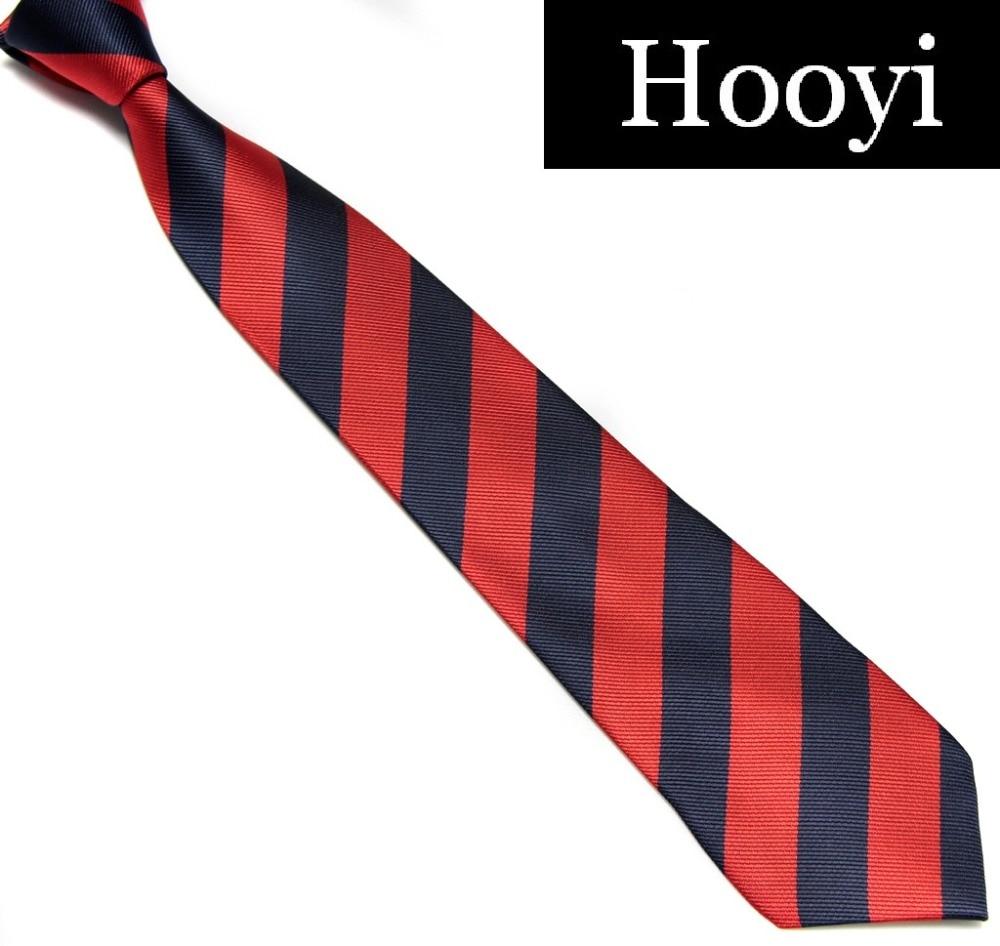 HOOYI HOOYI Fashion Polyester Stripe Ties For Men School Neck Tie Students' Cravat College Necktie
