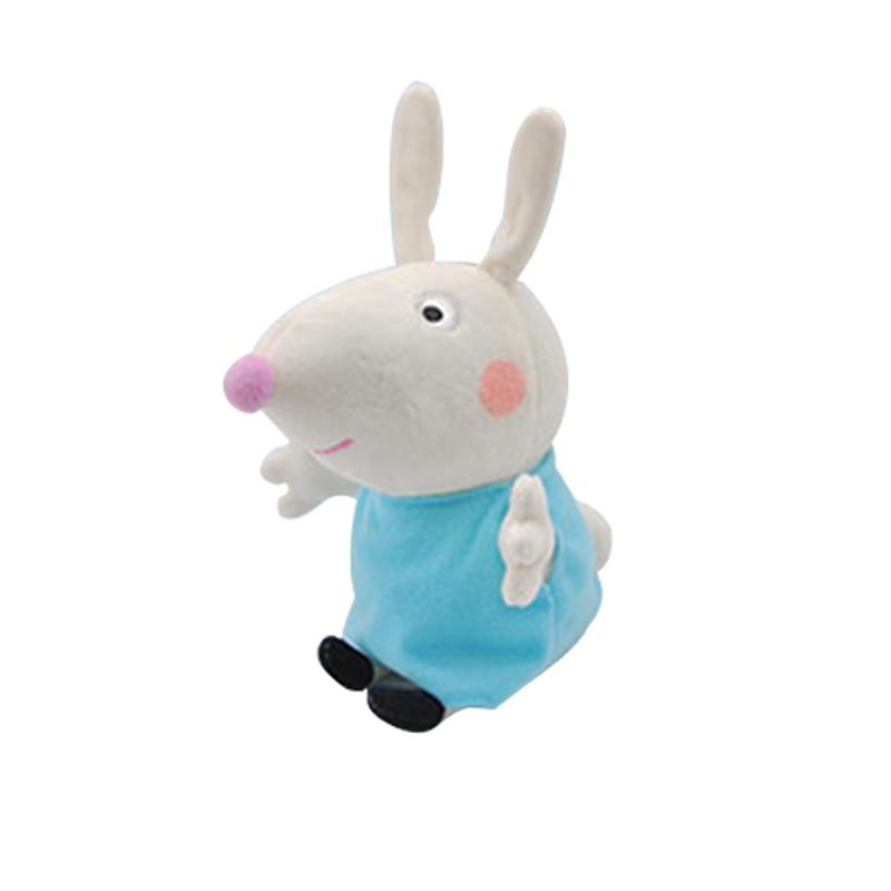 19 см оригинальная Свинка Пеппа Джордж Животные Мягкие плюшевые игрушки мультфильм семья папа мама друг Pelucia мягкие куклы игрушки детские подарки - Цвет: Rebecca Rabbit