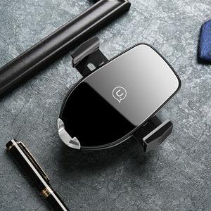 Image 5 - יוקרה Qi אלחוטי רכב טלפון מטען, USAMS אוויר Vent מחזיק 10W מהיר טעינת טלפון מחזיק עבור iPhone X XS XR סמסונג S10 מטען