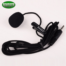 OEM Lavalier 1M 3.5mm Microphone For Micor High Quality DAGEE DG-001 MIC Mini Portable Microphone  Free Shipping