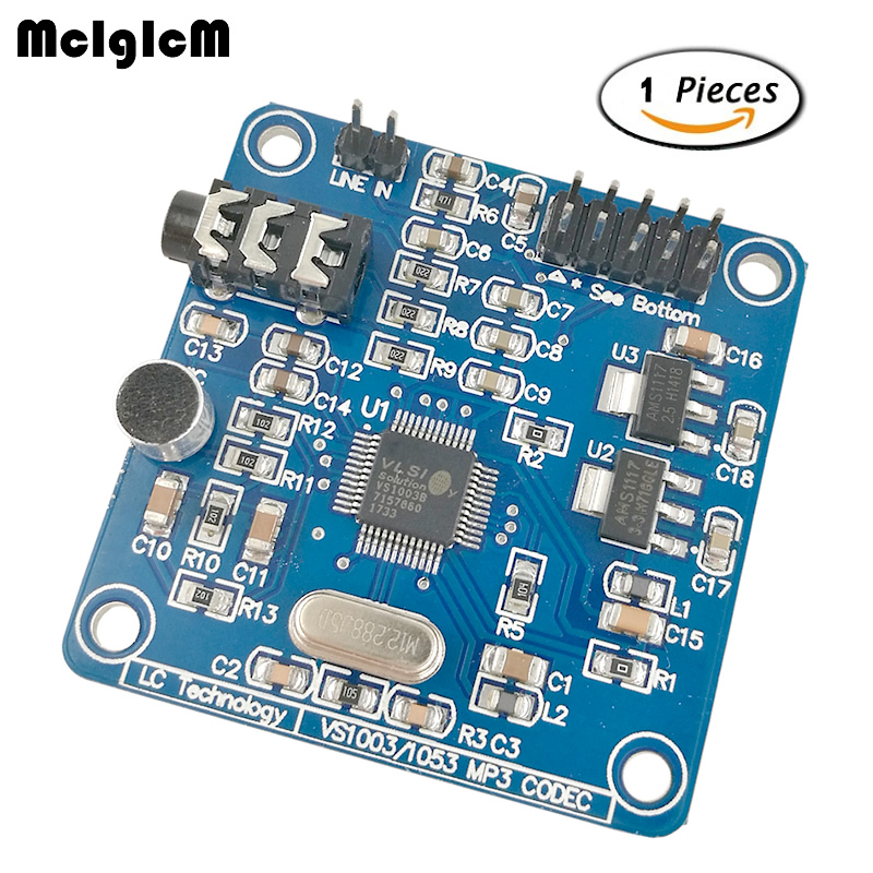 10PCS VS1003 VS1003B MP3 Module Decoding Containing Microphones STM32 Microcontroller Development Board Accessories