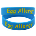 New Arrival 1PC Alert Egg Allergy Wristband Silicone Bracelet for Kids