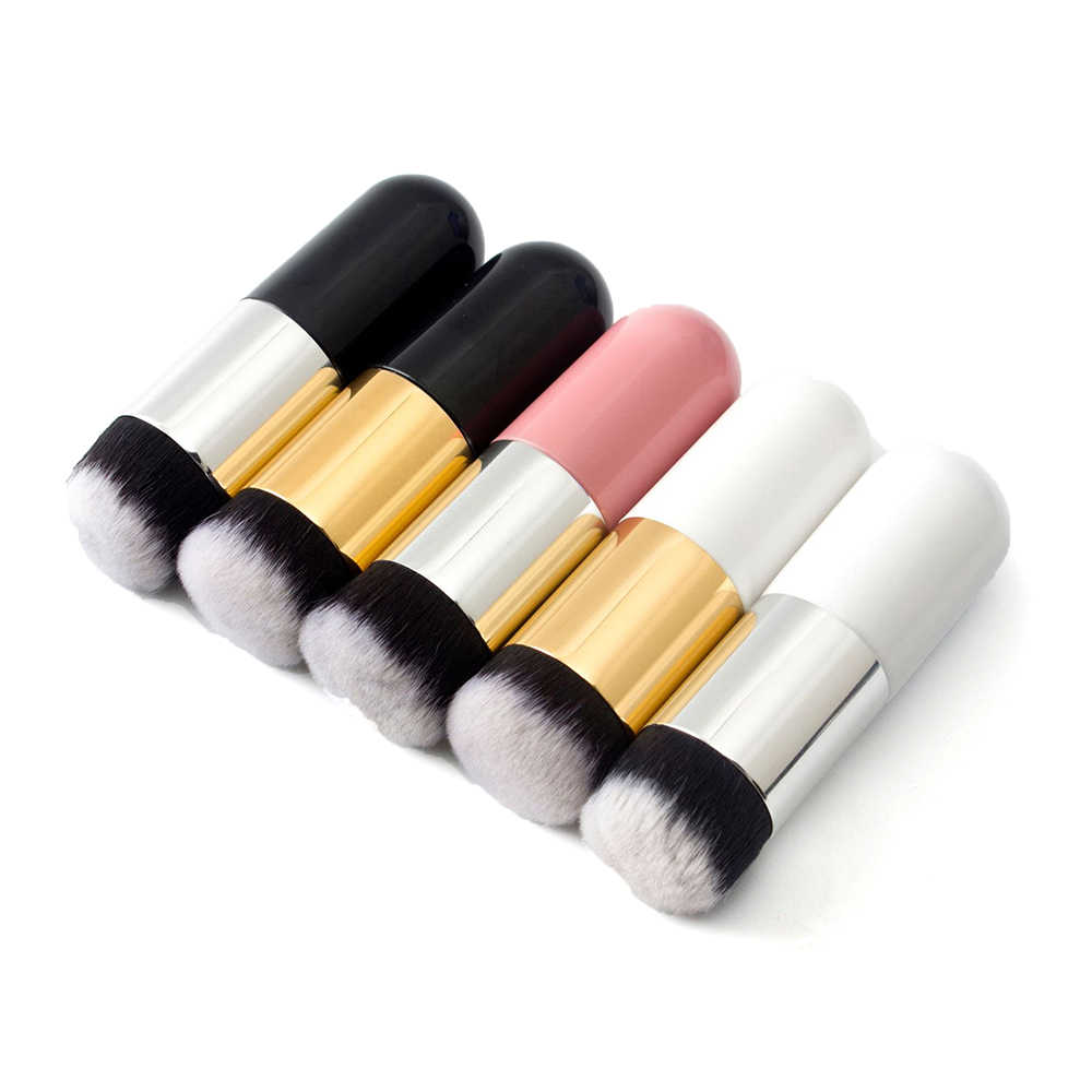 2019 Professional Chubby Pier Foundation Brush 5Color Makeup Brush Flat Cream Makeup Brushes Professional Cosmetic Make-up Brush