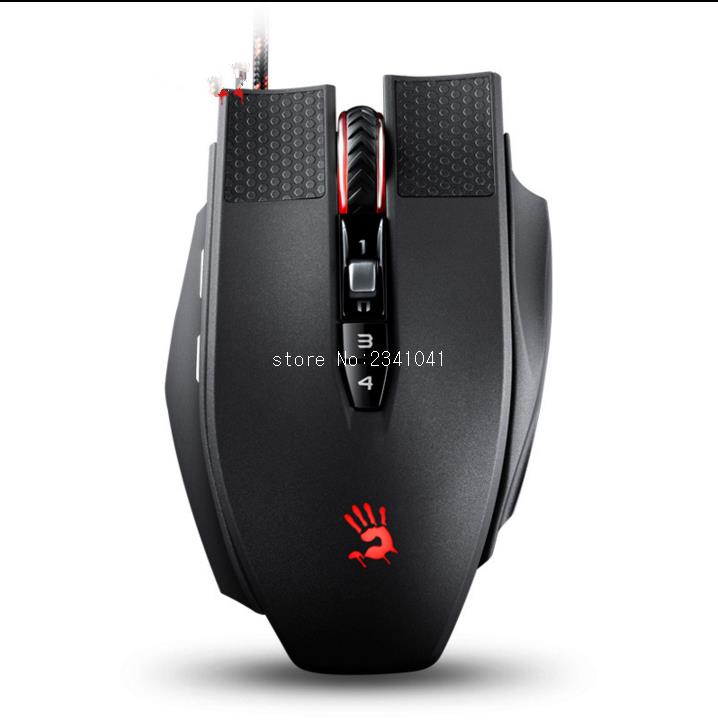 A4TECH Bloody TL9 Wired Gaming Mouse9 buttons 8200DPI Laser Mouse for Desktop/Laptop/Notebook PC Computer