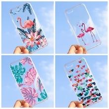 6f0a1b9dc5f Funda suave con diseño de TPU para iPhone XR X 8 7 6 6 S Plus 5S 5 S SE  flores pájaros funda pintada de animales para iPhone XS .
