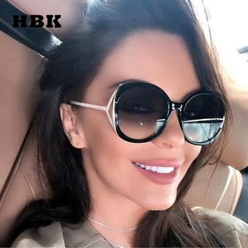 6cb63cb4e4 HBK 2019 nueva moda Cateye gafas De sol De la marca De lujo De las mujeres  Vintage De diseñador De ojo De gato gafas De sol gafas hombres UV400 Oculo  De sol ...