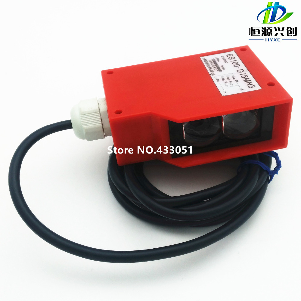 Free shipping ,Photoelectric switch sensor,detection distance 15 meters adjustable,NPN,power supply 10~30V DC,NO/NC can be used free shipping u shaped rectification infrared sensor 30mm width groove type photoelectric photo switch npn
