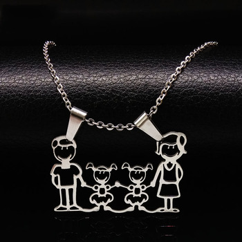 Unisex Family Necklace Jewelry Necklaces Women Jewelry Metal Color: 2 Girl