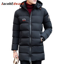 Winter Mens Long Parka Coat Black Navy Mens Jackets And Coats 100% Polyester Men's Brands Clothing Jackets Coat Size L-4XL Parka