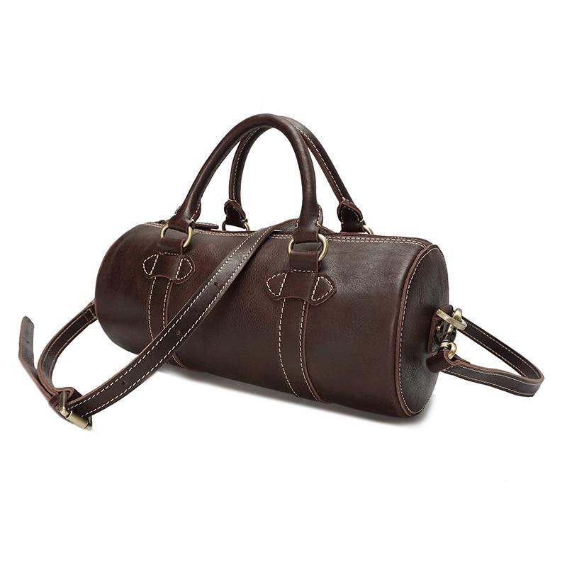 CHARA'S marque de haute qualité sac de voyage hommes/femmes en cuir véritable sac à main long sac polochon unisexe haute capacité bagages-in Voyage Sacs from Baggages et sacs    3