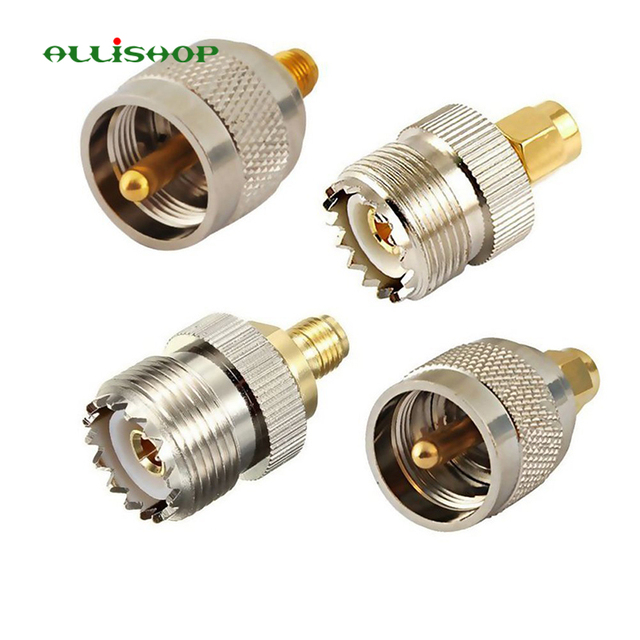 Pleasing 4 Pcs Kit Rf Adapter Coaxial Connector Sma To Uhf Pl259 So239 Mount Wiring Database Denligelartorg