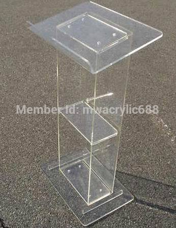 Pulpit Furniture Free Shipping Popularity Squre Beautiful Modern Design Cheap Clear Acrylic Lectern Acrylic Podium Plexiglass