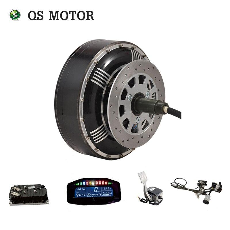 QSMOTOR 8000 W 273 50 H V3 BLDC kits de conversion de moteur de moyeu de voiture électrique sans brosse avec contrôleur kelly