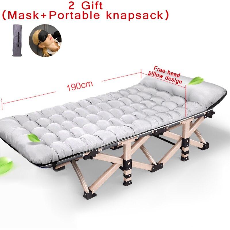 2017 Nouveau Multi angle réglable lit pliant bureau sieste lit avec oreiller fois chaise et 25mm En Métal Tube charge 11 Motif dans Chaises de plage de Meubles