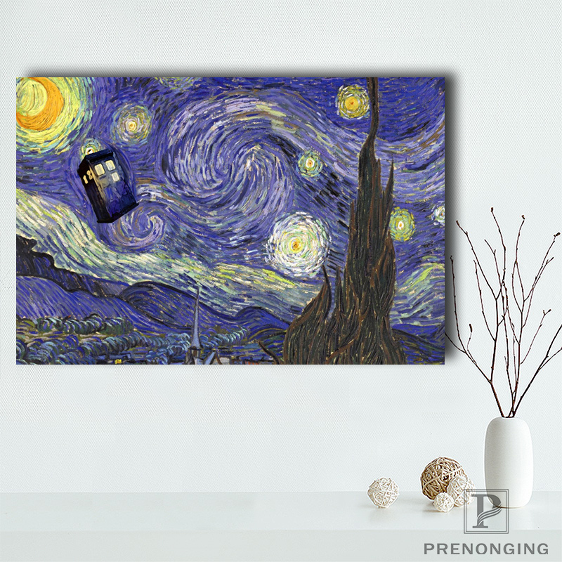 Canvas Poster Silk Fabric New Arrive Doctor Who Poster Customized  Trends International Dr Who Rolled Poster Room#100114-02
