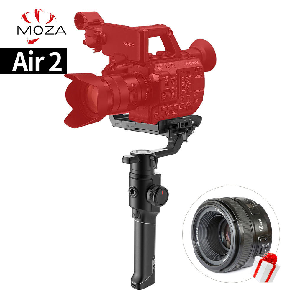 Moza Air 2 Maxload 4.2Kg Dslr Slr Mini Video Digicam Stabilizer Four Axis Handheld Gimbal For Sony Canon Nikon With 3/eight 1/Four Screw