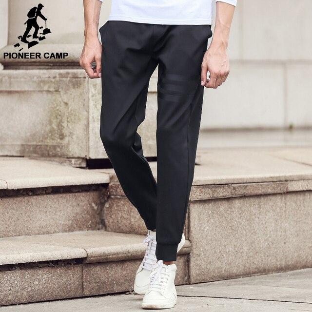 19555f46 Pioneer camp nueva llegada pantalones casuales hombres ropa de la marca de  moda masculina pantalones de calidad superior elástico joggers hombres ...