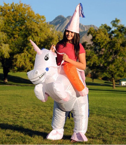 Inflatable Unicorn Costume Ride on Sky Horse