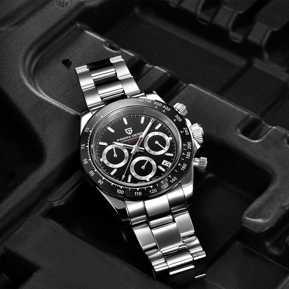Часы для мужчин s Нержавеющая сталь Кожаный ремешок кварцевые часы Мода синий черный человек часы стиль для мужчин платье часы 40 мм - 5