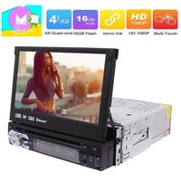 Android 7 GPS Stereos Single Din Navigation DVD CD Player Support WIFI 3G 4G Subwoofer Bluetooth