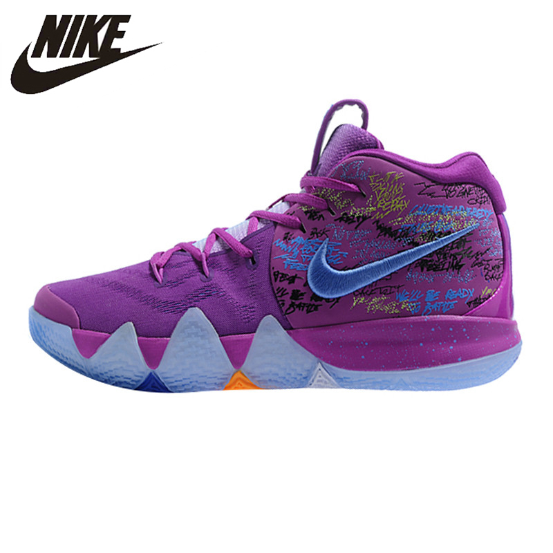 new concept a7a25 68c75 US $150.64 30% OFF|Nike Kyrie 4 Irving 4th Generation Confetti Men's  Basketball Shoes,Purple, Shock Absorption Wear Resistant Wraparound AJ1691  900-in ...