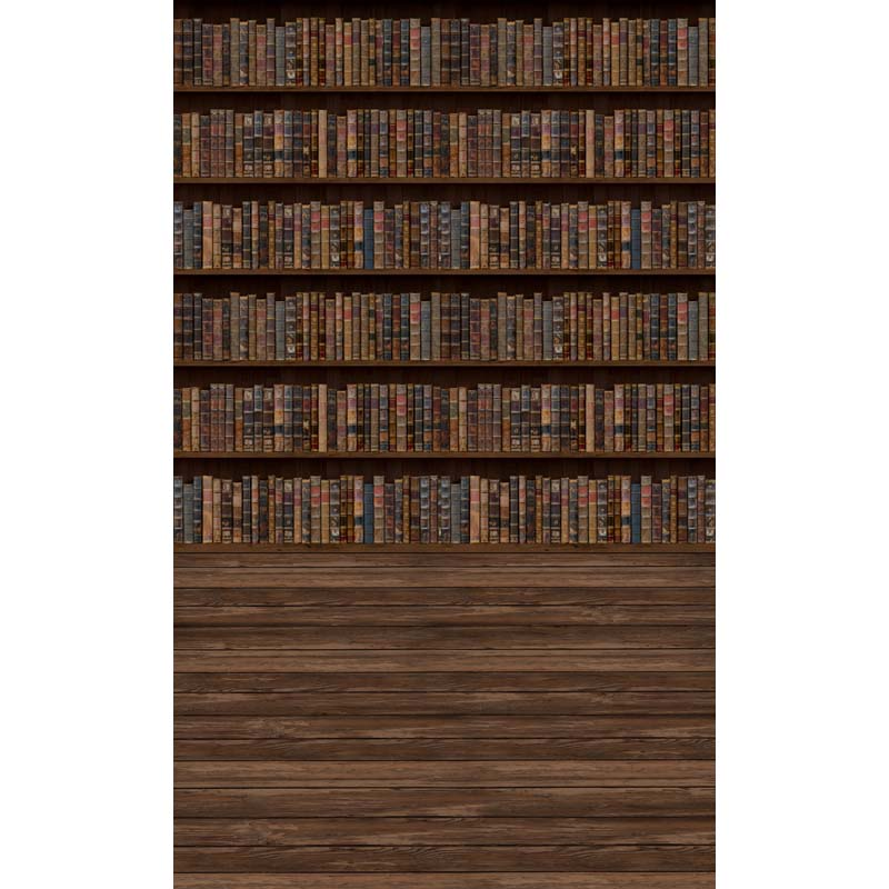 Vinyl Photography Background Vintage Book Shelf Backdrop School Printed Fabric for Photo Studio F-2696