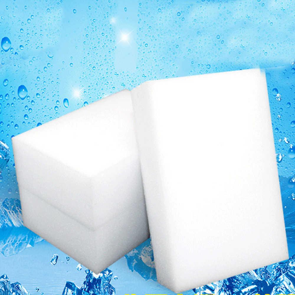 1 Pc สีขาวทำความสะอาดล้างจานขัดบีบอัดยางลบเมลามีนฟองน้ำห้องครัวอุปกรณ์ห้องน้ำรายการ