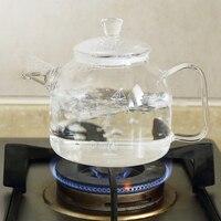 Transparente tetera de alta temperatura puede abrir fuego hervidor de vidrio resistente al calor olla de vidrio fruta té perfumado té 900 ml