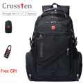 "Crossten Swiss Military Army Travel Bags Laptop Backpack 15.6"" 17""  Multifunctional Schoolbag for Macbook Waterproof  Fabric"