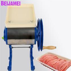 BEIJAMEI ręczna rozdrobniona maszyna do cięcia mięsa/domowe mięso mielone maszyna do warzyw krajalnica do mięsa