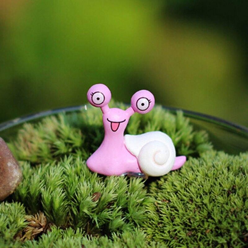 Miniature Snail Figurine Decor Fairy Garden Dollhouse Ornament Random Color