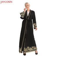 JAYCOSIN Women Floral Printed Long Dress Robe Open Abaya Cardigan Muslim Dubai Robe Gown muslim dresses for women abaya dubai z4