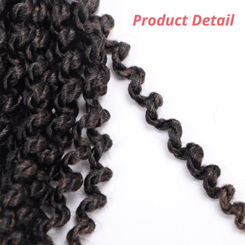 14 inch Marley Braids Ombre Hair Crochet Braid Synthetic Braiding Hair Extensions Braids Curly Crochet Hair Women Locs Twist 2