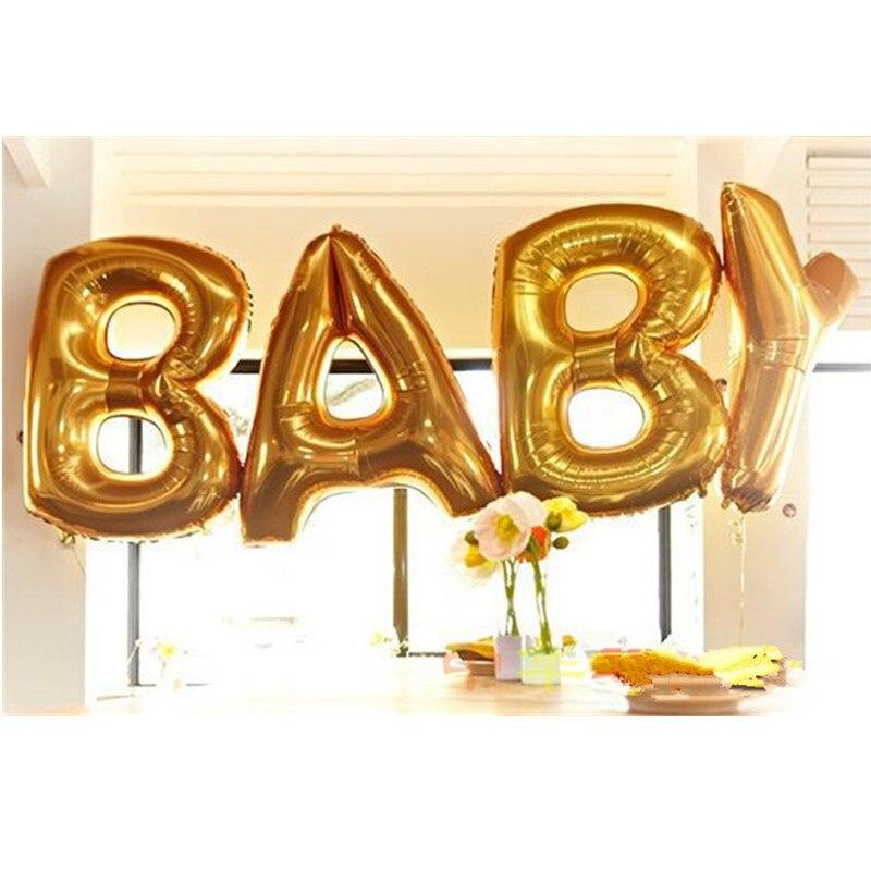 30 inch Gold Letter Foil Balloon Alphabet Aluminum Helium