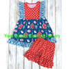 Back To School Clothes Sets High Quality Cotton Printing Fabric Baby Boutique Clothing For Single Pieces