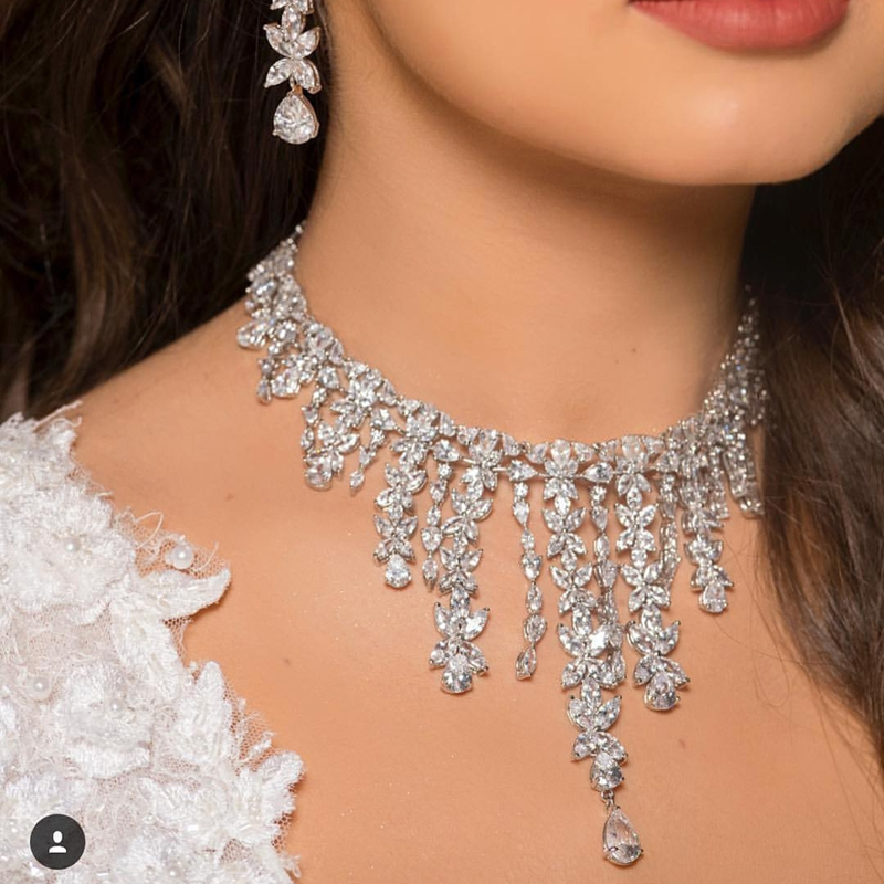 jankelly luxury 2pcs Bridal Zirconia Jewelry Sets For Women Party Luxury Dubai Nigeria CZ Crystal Wedding Innrech Market.com