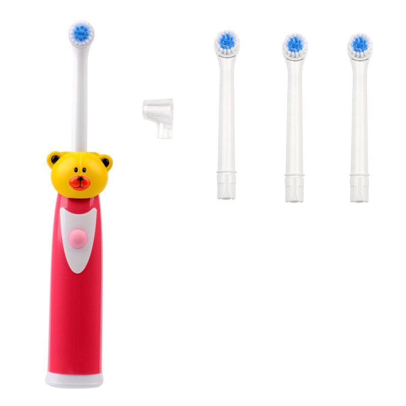 Cartoon Children Ultrasonic Waterproof Tooth Brush Electric Toothbrush for Kids Teeth Care Brush Oral Hygiene + 4 Brush Heads 2017 220v pink a39plus 55 wireless ultrasonic electric toothbrush electric tooth brush rechargeable 4 heads teeth brush
