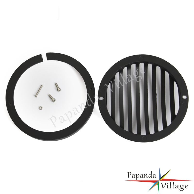Motorcycle Accessories & Parts Covers & Ornamental Mouldings Methodical Black Motorcycle 5.75 Headlight Grill Cover Protector For Harley Sportster Xl833 Xl1200 2004-2014 Touring Trike Models Be Friendly In Use