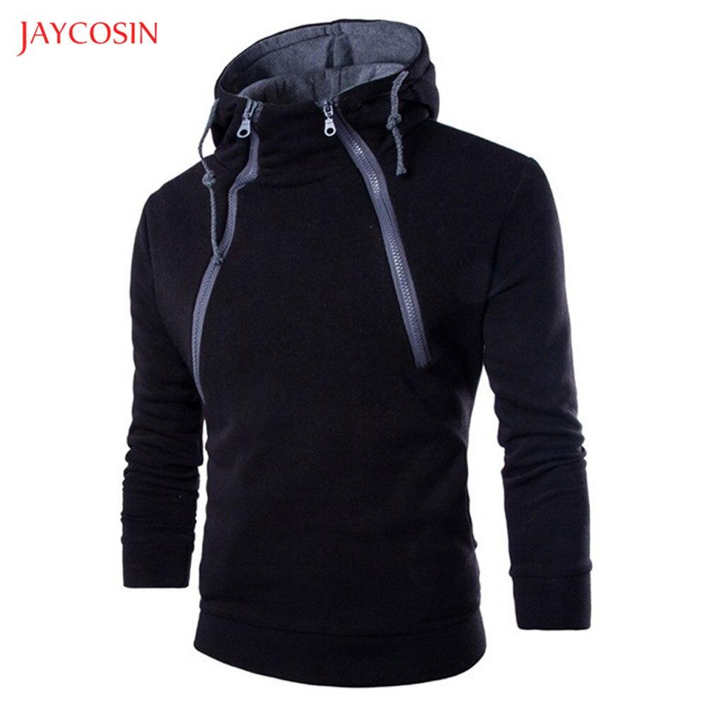 Jaycosin Clothes Men Zipper Patchwork Hoodie Sweatshirt Spring Autumn Casual Long Sleeve 3XL O-Neck Sport Exercise Top Blouse
