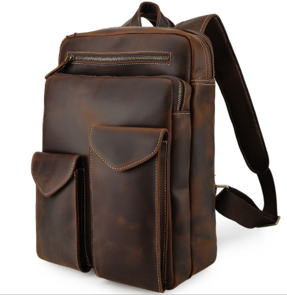 News Men's genuine leather vintage backpack Multifunctional Mountaineering shoulder bag military guide Hiking travel backpacks dvb t isdb digital tv box for our car dvd player
