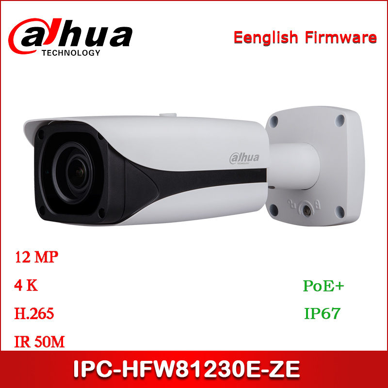 <font><b>Dahua</b></font> <font><b>IP</b></font> <font><b>Camera</b></font> IPC-HFW81230E-ZE <font><b>12MP</b></font> 4.1mm ~16.4mm zoom lens IR Bullet Network <font><b>Camera</b></font> with POE+ Security <font><b>Camera</b></font> image