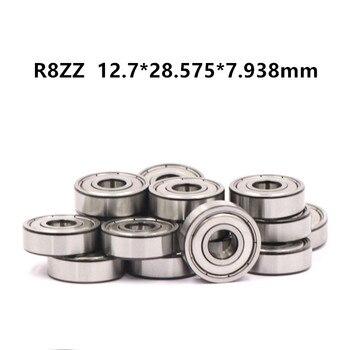 Ochoos Rolamentos 10 Pcs Fr8zz Bearings 1//2 X 1-1//8 5//16 Inch Flanged Ball Fr8-2z 12.728.575//31.127.938 mm Flange